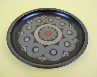 Denby Arabesque or Samarkand side plate. Mid-century modern.