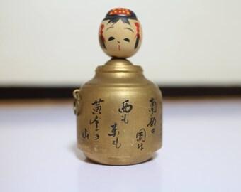 Kokeshi in Onsen Bath wood Doll Vintage Japanese Kokeshi Doll Japanese wooden Doll Vintage Kokeshi Folk Doll Traditional Doll