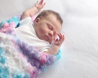 Toddler Blanket Minky - Minky Rainbow Blanket - Toddler Blanket Girl - Minky Blanket Girl - Minky Baby Blanket Girl