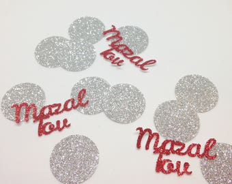 Mazel Tov Large Table Confetti - Party Decoration - Bar Mitzvah - Bat Mitzvah