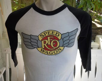 Size M- (40) ** True Vintage 1981 REO Speedwagon Concert Shirt (Double Sided)