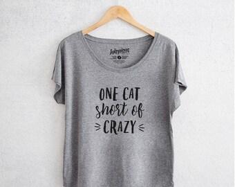 Once Cat Short - Tri-Blend Dolman Grey