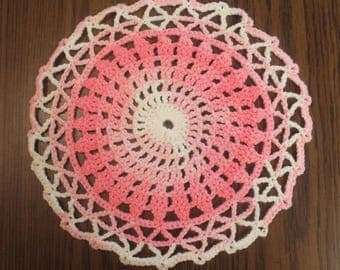 Crochet Pink Doily