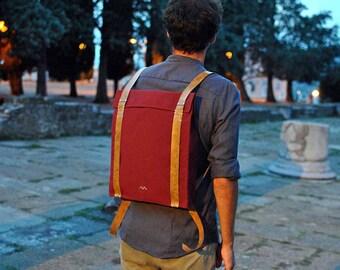 City backpack for men, satchel backpack, canvas leather laptop backpack, mens backpack, waterproof backpack, Custom backpack 201