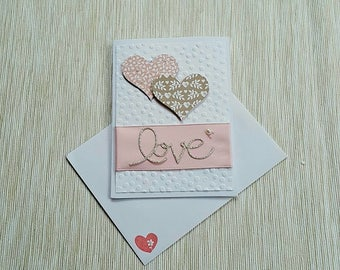 Handmade Stampin' Up! Love Hearts Card