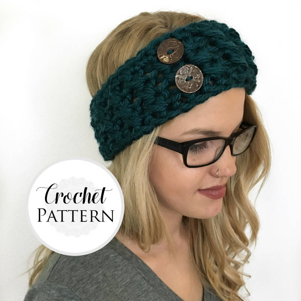Chunky headband crochet pattern headband pattern ear warmers this is a digital file bankloansurffo Image collections