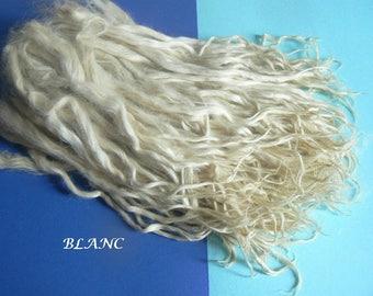 Mèches longues d'alpaga suri - 50g - Qualité extra - Triées main