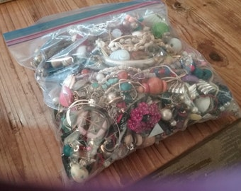 Large Junk Jewelry Lot 5.10 Pounds