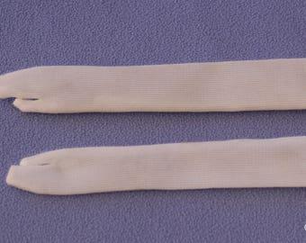 Vintage Barbie or Francie Doll Long White Gloves, EXC