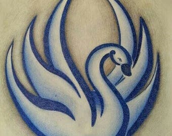 Blue swan   MADE TO ORDER