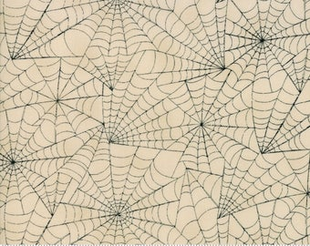 Halloween Spider Web Fabric by the Yard, Eerily Elegant, Deb Strain, Cream Spider Web Fabric, Halloween Quilt Fabric, Cotton, 19813 12