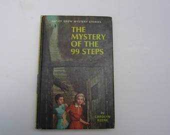Nancy Drew The Mystery of the 99 Steps, Nancy Drew number 43, Nancy Drew 1970s vintage book, vintage book, 1960s Nancy Drew book, 99 Steps