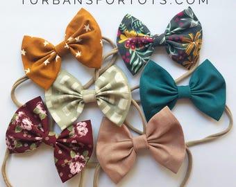 Jewel Tones set- baby bow set
