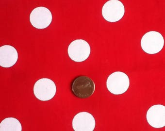 "Large White Polka dots on Red Overlap Pillow cases 20""x20"""