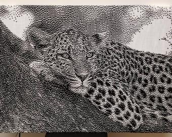 KNIT Leopard portrait
