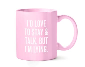 I'm Lying | 11 oz. Pink Ceramic Coffee Work Mug