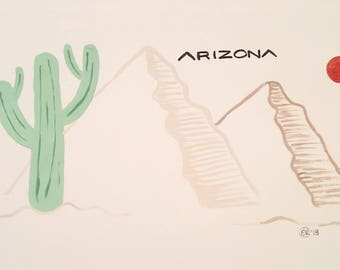 Arizona Acrylic Painting