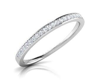 Diamond Wedding Band, Real Diamond, 10k White Gold, Wedding Band, Wedding Ring, Promise Ring, Sale on Diamond Wedding Ring Band