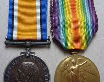 British WW1 Medal Pair Awarded To Soldier In The Royal Warwickshire Regiment