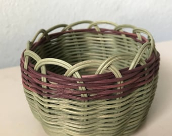"Hand woven basket titled ""In Touch With Nature"" Authentic Native America Art double wall basket handmade basket"