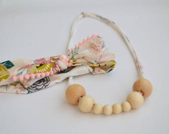 Mommy and Baby Pink Necklace and Headband Set: 8-Bead