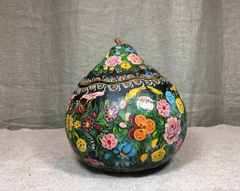 Hand painted gourd from Mexico