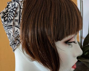 Straight Front Bangs-perfect under any hat! (for cancer patients with chemo hair loss)
