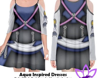 Aqua Kingdom Hearts Inspired Dresses