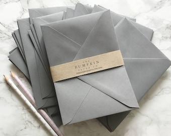 "50 4x6"" Envelopes Grey A6 Envelopes C6 Envelopes/wedding invitation envelopes/card making/diy craft True Size 4.1/2 x 6.3/10"" 114x163mm"