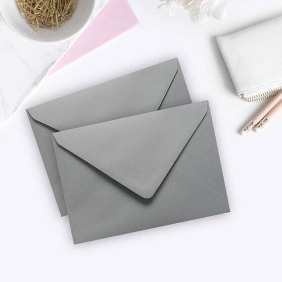 Wedding Invitation Envelopes Canada: 100 5x7 Grey Envelopes A7 Wedding Invitation Envelopes Bulk