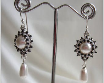 dangling Swarovski Crystal and Silver earrings