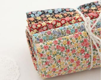 Little Flower Pattern 20s Cotton Fabric - 5 Colors Selection