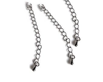 Set of 10 pieces of chains with silver chain included