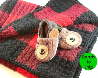 Baby Easter Gift- Baby First Birthday- Lumberjack First Birthday- Lumberjack Baby Shower- Woodland Baby Gift- Buffalo Plaid- Baby Gift Idea