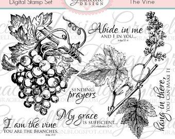 The Vine Digital Stamp Set