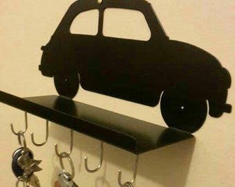 Metal WALL-holder and keychain, Fiat 500