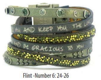 Good Works Make a Difference Mineral Come Together Scripture Cuff Bracelet  Flint Numbers 6:24-26