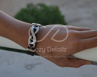 men women infinity bracelet, infinity jewelry, anniversary gift, infinity symbol bracelet, husband gift, wife gift, friendship bracelet
