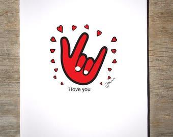 ASL 'I Love You' Hand (#13L)
