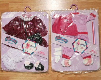 2 Vtg Pamela Doll Outfits 1986, Out to Dinner+Playtime, Worlds of Wonder WOW New