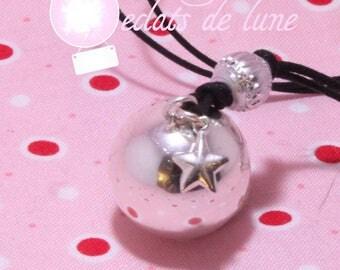 Bola pregnancy 925 Silver Star genuine charm and rhinestone