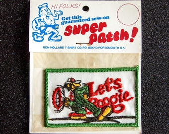 Vintage Let's Boogie Embroidered Patch