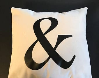 20% OFF Ampersand throw pillow, and sign throw pillow