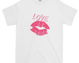 Novelty Lipstick Love Short-Sleeve T-Shirt