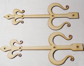 Card of 12 pairs of fairy door hinges  Choose Length  #02