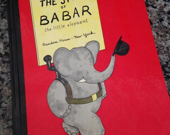 The Story Of Babar The Little Elephant Jean de Brunhoff 1970s