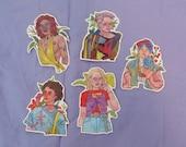 FLOWER GANG - Sticker Set -  Original Art