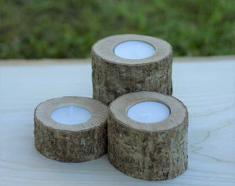 Set of 3 Rustic Tea light holders.