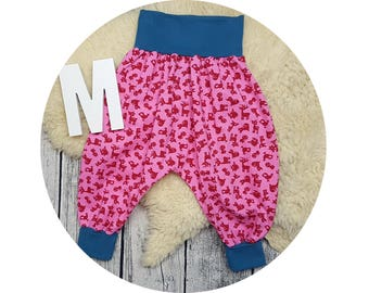 Jersey trousers, Mitwachsen pants, harem trousers, harem pants, baby pants, baby, pants, Puereh, deer, hedgehog, Fox, mushroom