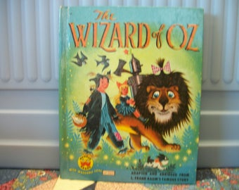 1950s Vintage The Wizard of Oz Wonder Book